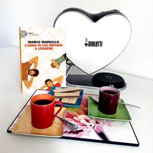 """Caffè d'autore con Marco Marsullo e il suo ultimo romanzo """"L'anno in cui imparai a leggere""""."""