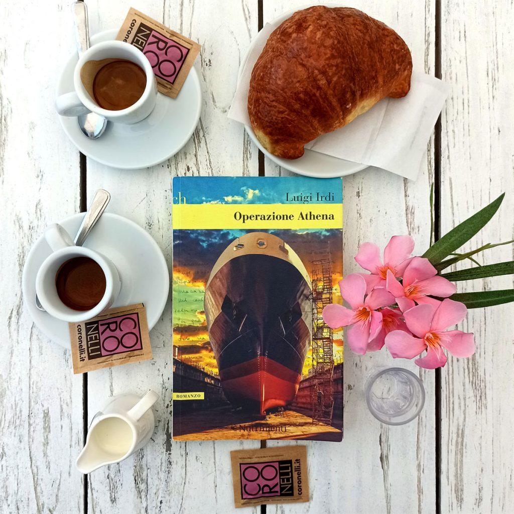 """Caffè d'autore con Luigi Irdi e il suo romanzo """" Operazione Athena""""."""